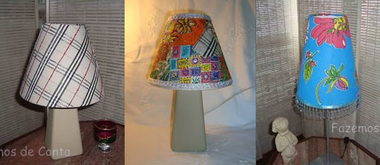 Lucia's fabric covered lampshades, photo