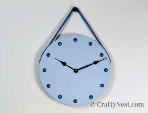 DIY furniture-nail clock with strap