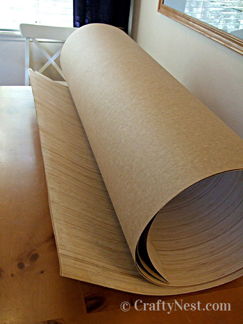 Roll of bamboo veneer, photo