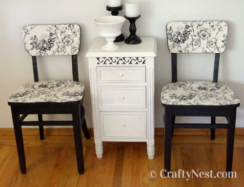 Reclaimed dining chairs makeover