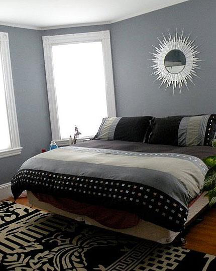 Sara Manly's starburst mirror in her bedroom, photo