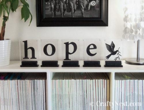 DIY framed silhouette words