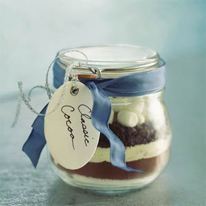 Classic cocoa in a jar