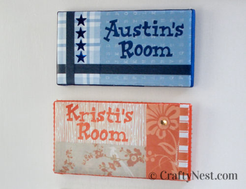 Camp craft: DIY subway tile nameplates