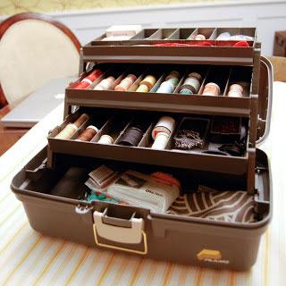 DIY sewing box organizer, photo