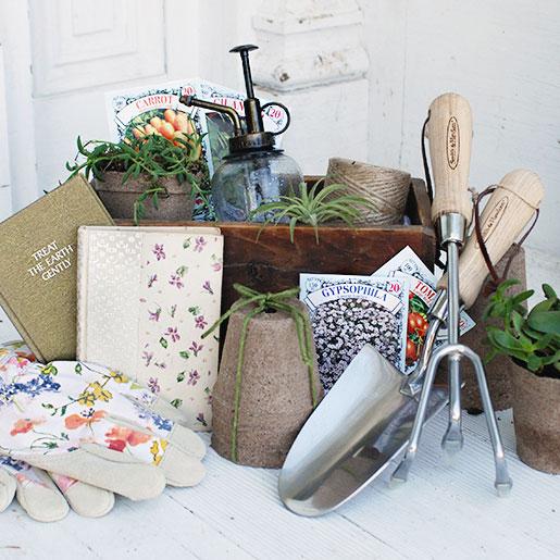 Garden gift basket, photo