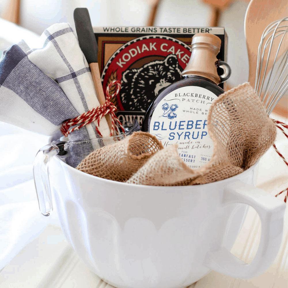Pancake breakfast gift basket, photo