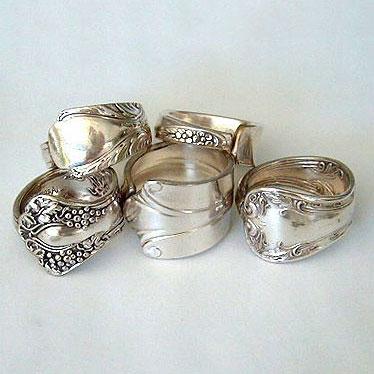 DIY silverware rings, photo