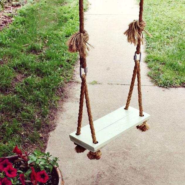 DIY rope swing, photo