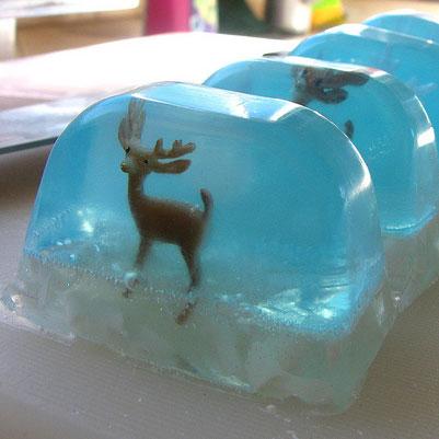 DIY snow globe soap, photo