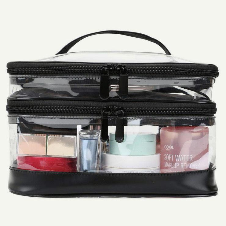 Travel cosmetic bag organizer, photo