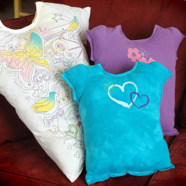 T-shirt pillows, photo