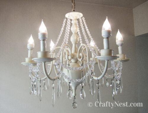 Chandelier makeover: the tutorial