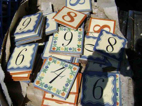 Ohmega Salvage house number tiles, photo
