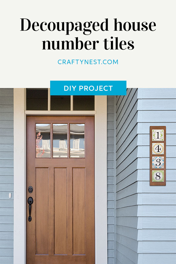 Crafty Nest house number tiles Pinterest image