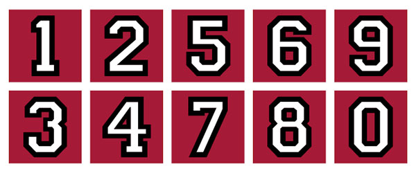 Stanford house numbers. photo