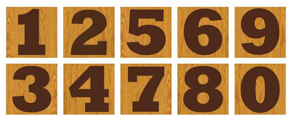 Tree hugger house numbers, photo