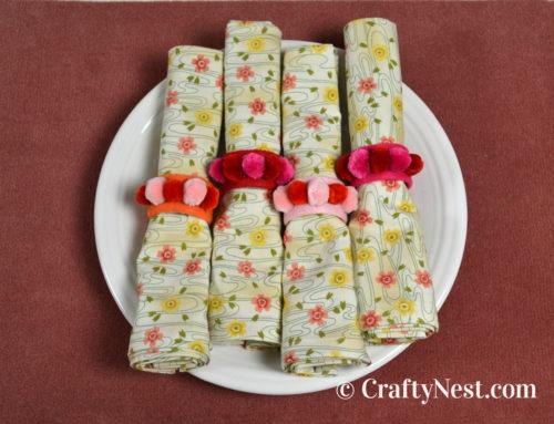 DIY mitered-corner cloth napkins