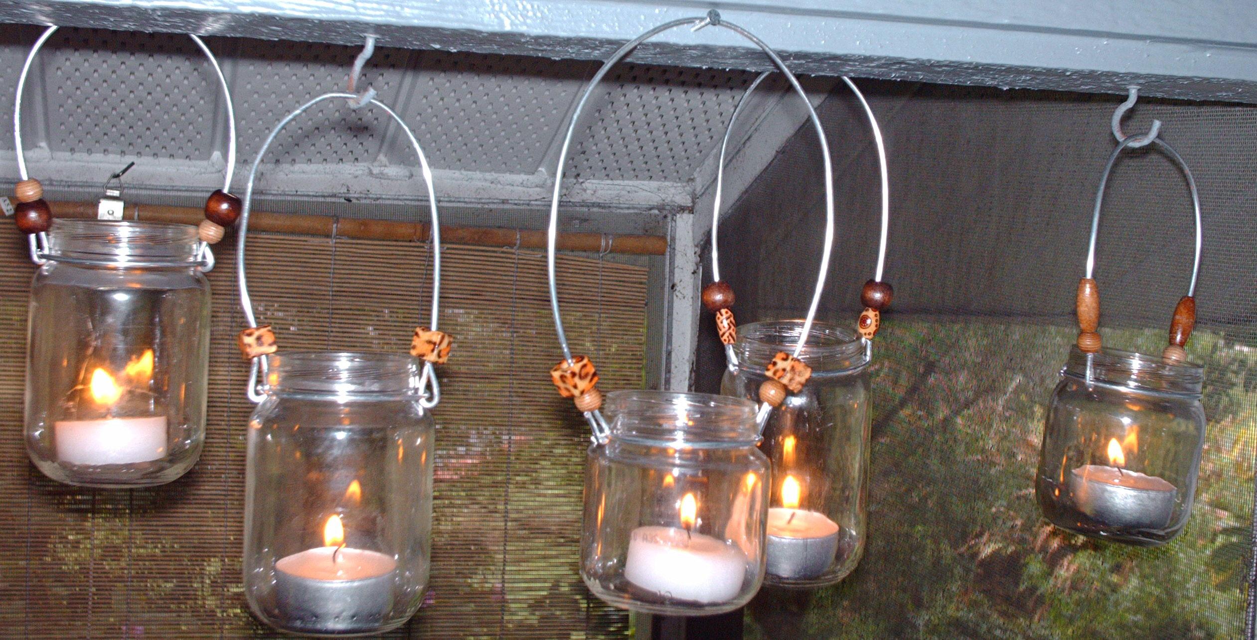 April's baby food jar lanterns, photo