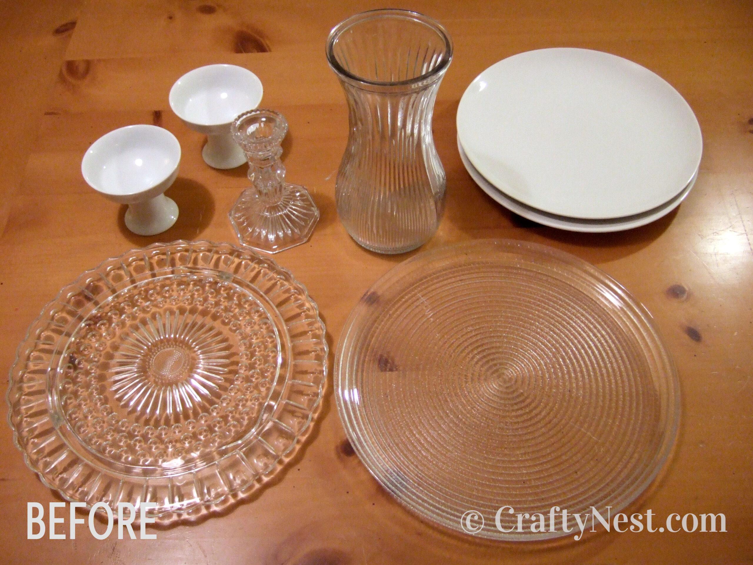 Plates, vases, candlesticks, etc., photo