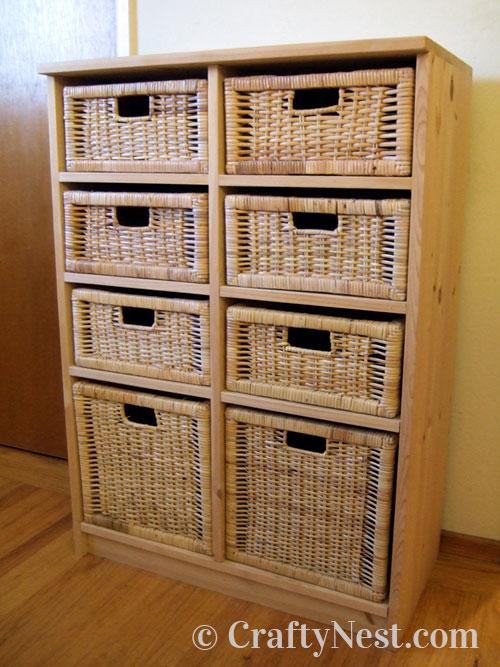 Finished basket drawer unit, photo