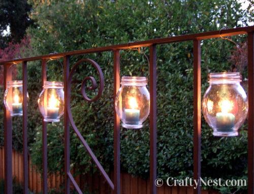 Food jars = hanging lanterns