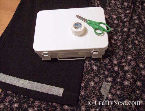 First-aid tape = quick hem repair