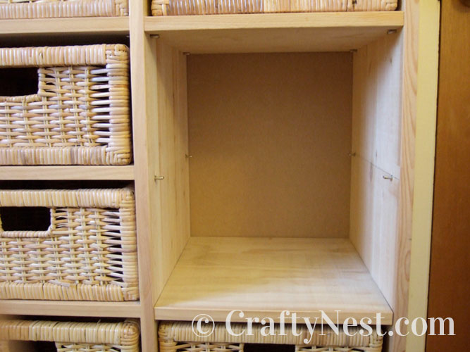 Open area before shelf is inserted, photo