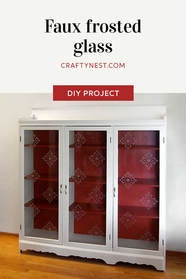 Crafty Nest faux frosted glass Pinterest photo