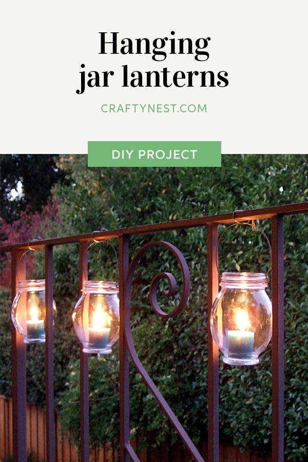 Carfty Nest hanging jar lanterns Pinterest photo