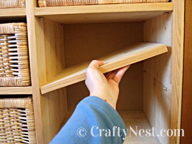 Inserting the shelf, photo