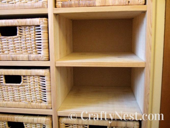 Shelf inserted, photo