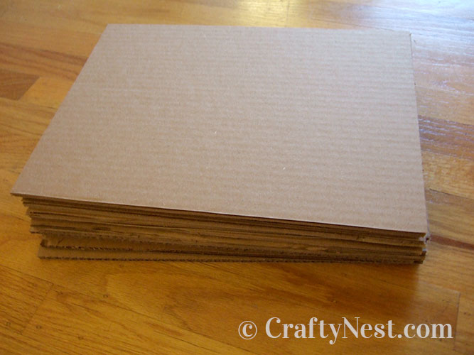 Stack of cut cardboard, photo