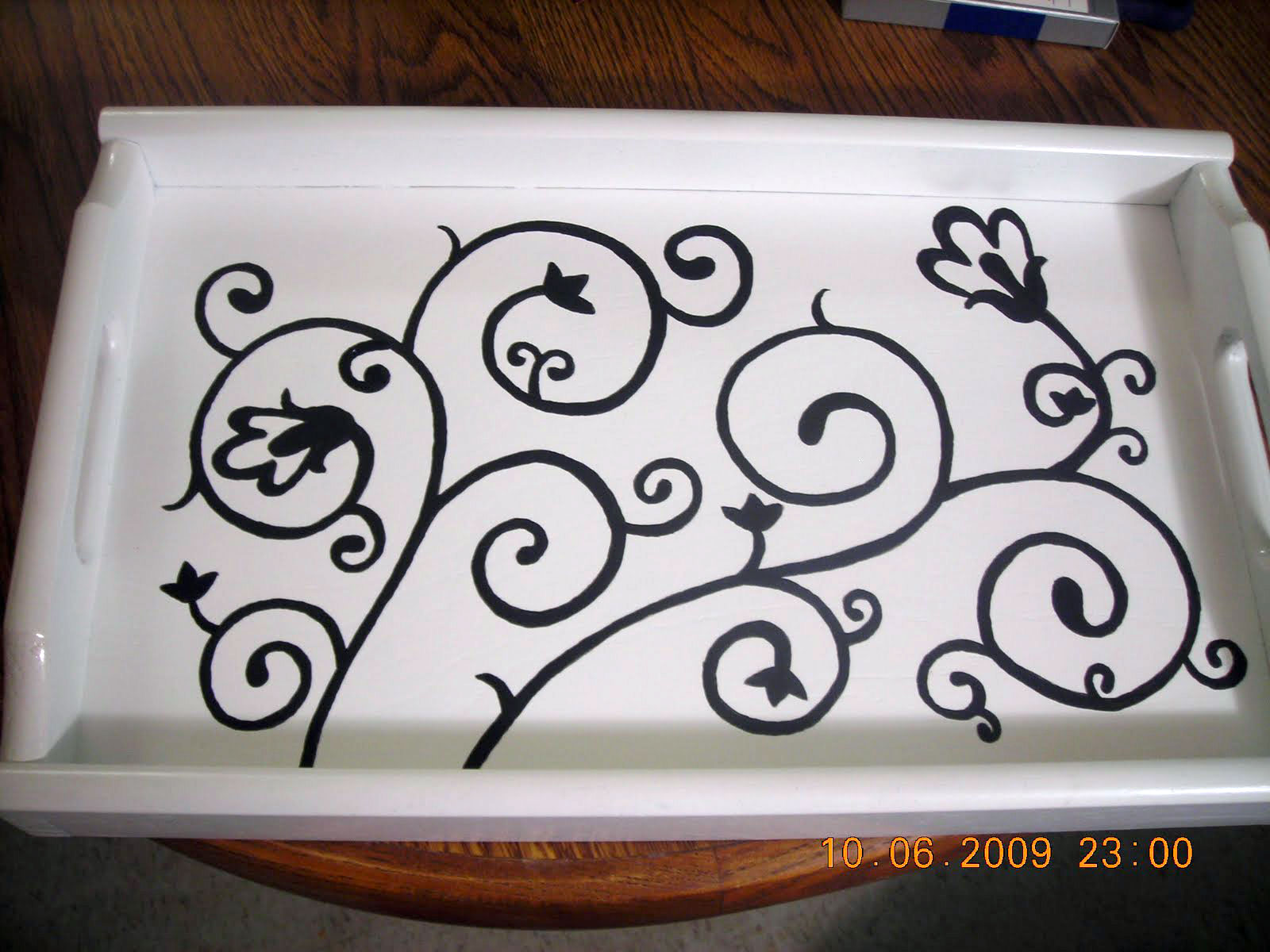 Stephanie's painted serving tray, photo
