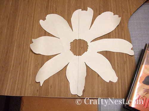Flower pattern on top of veneer, photo