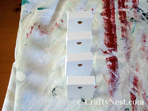 Paint the dowel holders, photo