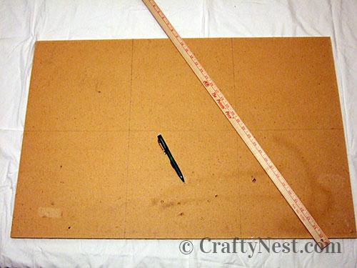 Mark the bulletin board in 6 squares, photo