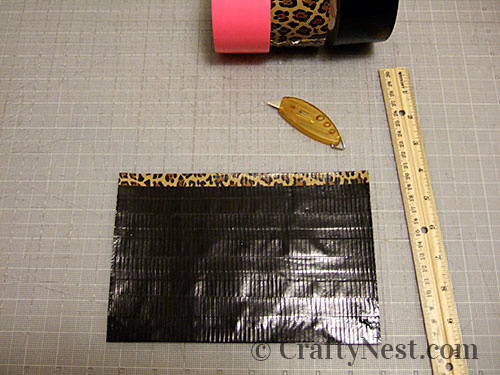 Duct tape wallets, step #5, photo