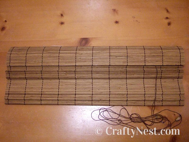 Bamboo roman shade, photo