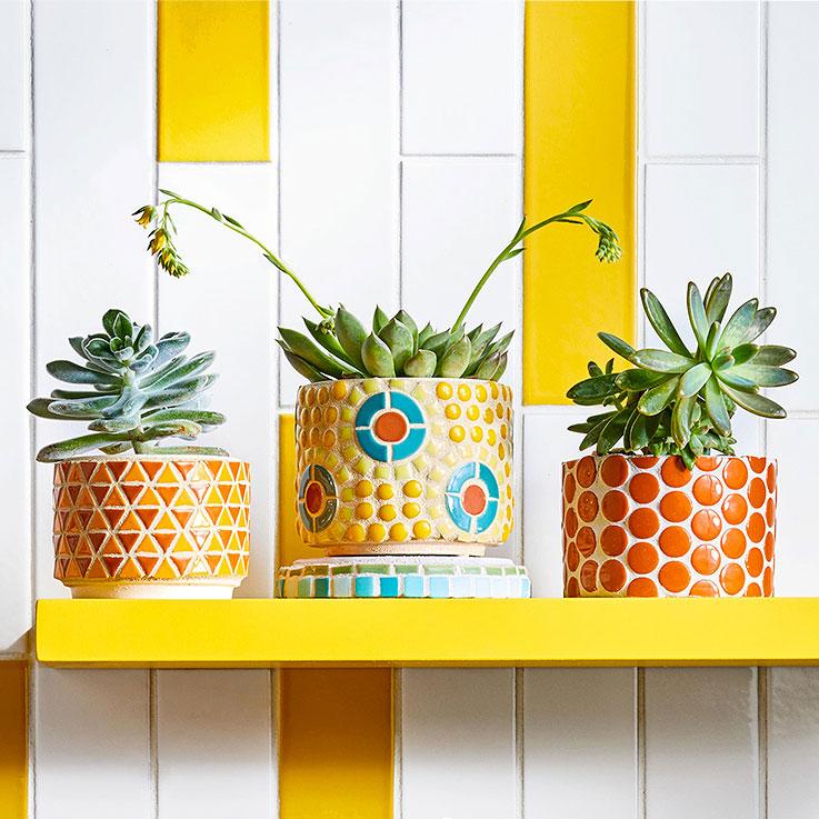 Better Homes & Gardens mosaic flower pots, photo