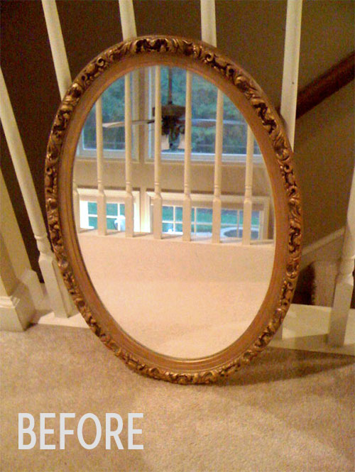 Cat's mirror before, photo
