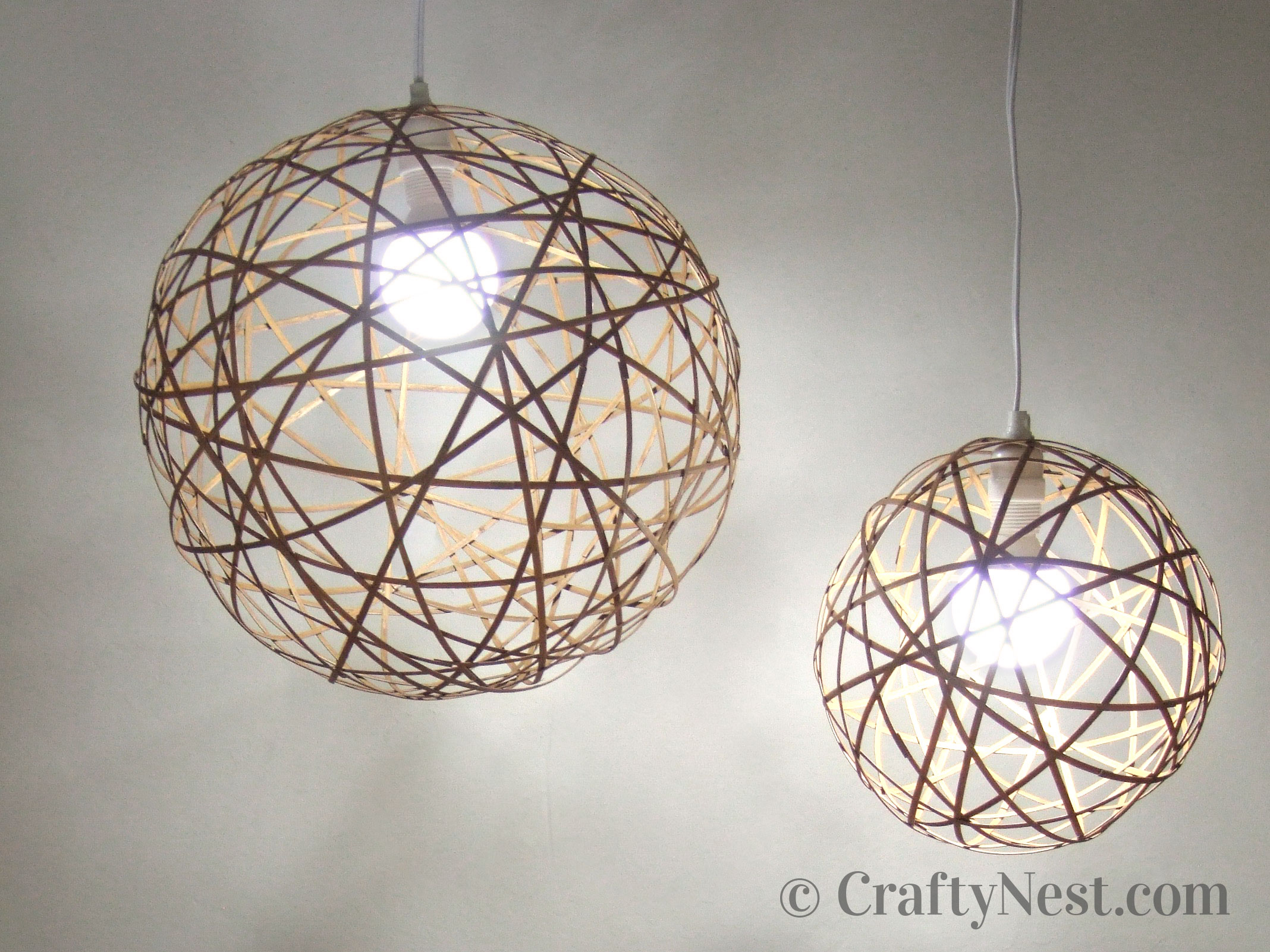 DIY bamboo orb pendant lights, photo