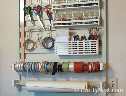 Crafting tool station with wall organizer
