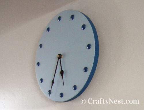 Furniture-nail clock