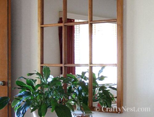 Salvaged window frame = DIY mirror