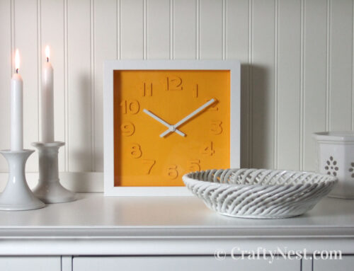 Crafting with the Cameo: embossed numbers clock