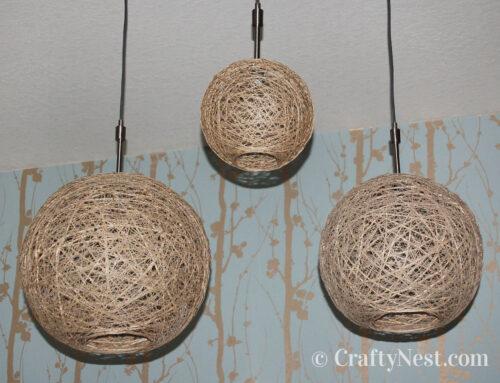 Heika's hemp-string pendant lamps