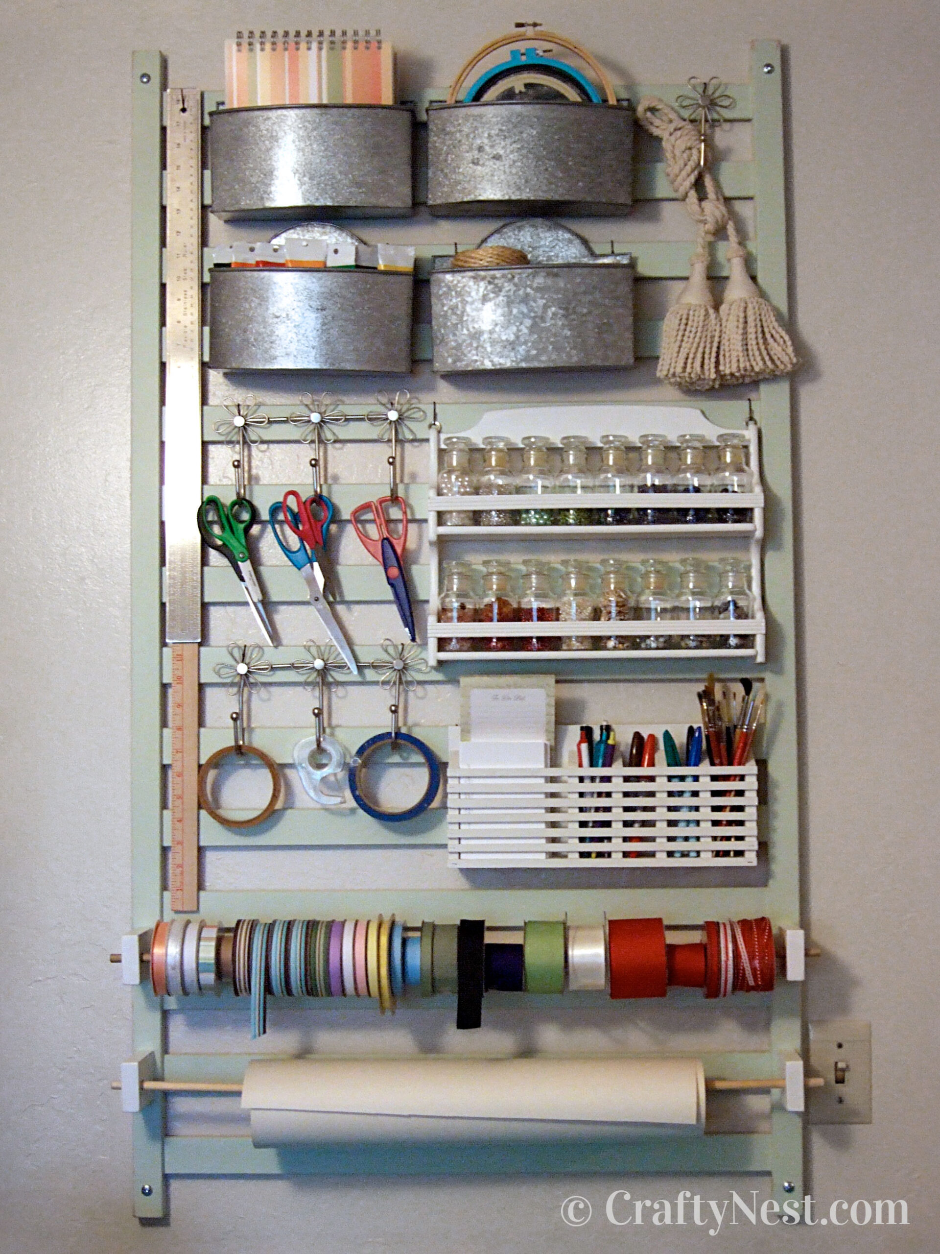 Crafting supplies wall organizer, photo