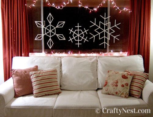 Giant craft-stick snowflakes