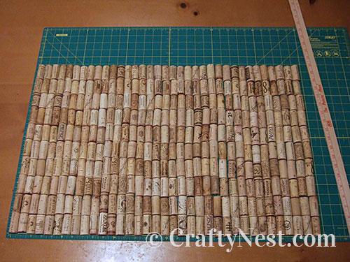 Arrange the corks, photo